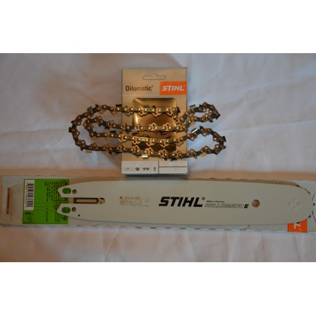 Prowadnica  Oryginalna Stihl 30050004805 z łańcuchem 3/8 x 1.3 /44  do Stihl MS180/250